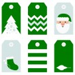 Cute modern Christmas holiday gift tags printables — Stock Vector