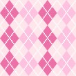Pink seamless Argyle Pattern for Valentines day — Stock Vector