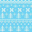 Stok Vektör: Winter Norwegiseamless knitting pattern ( blue & white )