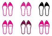 Beautiful lady shoes isolated on white ( pink ) — Wektor stockowy
