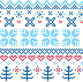 Beautiful seamless Norway pattern — Stock Vector