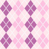 Seamless Argyle Pattern in pastel colors ( pink and purple ) — Stock Vector