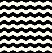 Retro seamless Wave pattern in black and white — Stock Vector