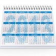 2013 desk calendar — Stock Photo