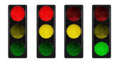 Traffic lights isolated on white background — Stock Photo