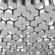Royalty-Free Stock Photo: Shiny hexagon metal bars background