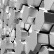 Shiny hexagon metal bars background - Stock Photo