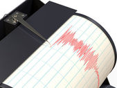 Seismograph instrument recording ground motion during earthquake — Stock Photo