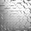 Stock Photo: Shiny triangular metal bars background