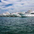 Motor yachts in the harbour — Stock Photo