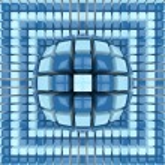 Op art two colors sphere pattern — Stock Photo #24838391