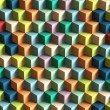 Stock Photo: Op Art Cubes Pattern