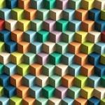 Op Art Cubes Pattern — Stock Photo