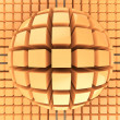 Stock Photo: Op art orange color sphere pattern