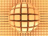 Modèle de sphère de couleur orange op art — Photo