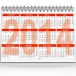 2014 Desk Calendar — Stock Photo