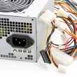 Computer power supply macro — Stock Photo #3621408