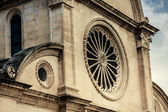 Rosetta on the front side of St. James Cathedral, Sibenik — Stock Photo