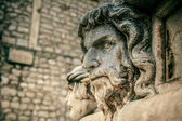 Stone head, detail of the St. James Cathedral, Sibenik — Stock Photo