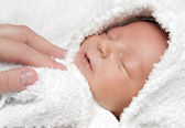 Infant after bath — Stock Photo