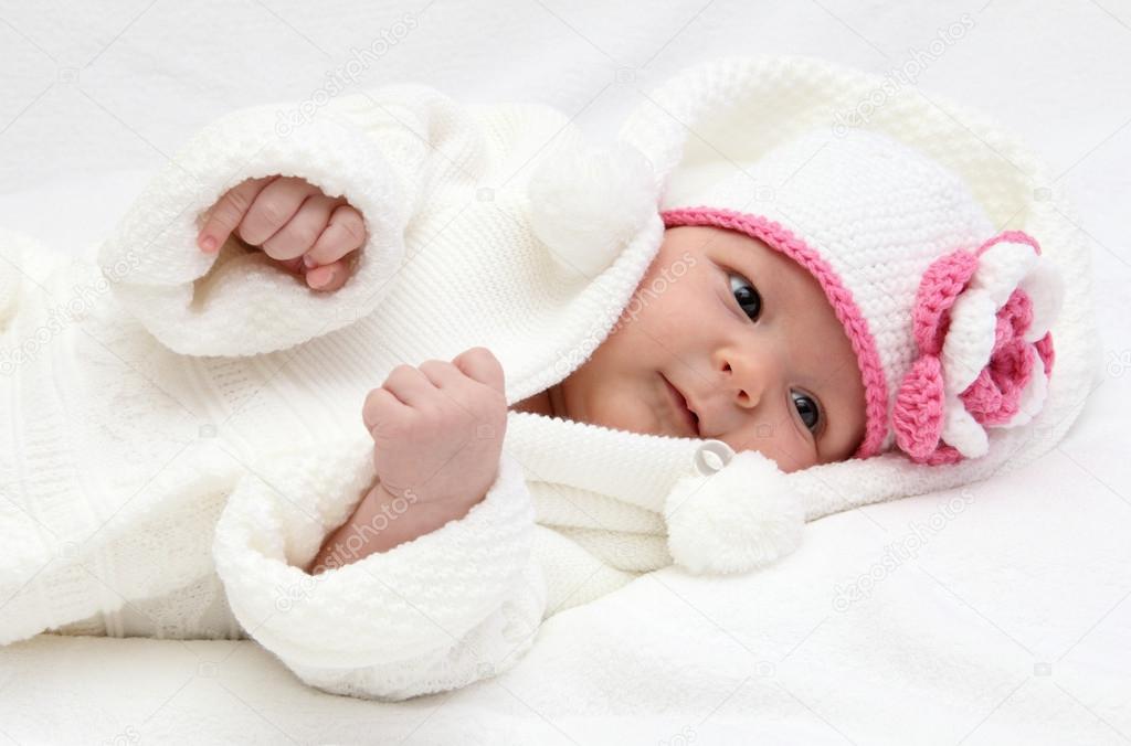 可爱宝宝帽编制视频