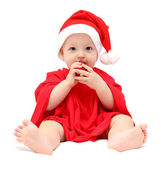 Cute christmas baby — Stock Photo