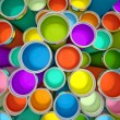 Banks of multicolored paint 3D rendering 2 — Stock Photo