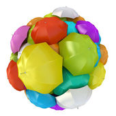 Colorful umbrellas in sphere — Stock Photo