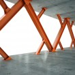 Beams and concrete structure 3D rendering — Stock Photo #12708071
