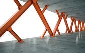 Balken en betonnen constructie 3d-rendering — Stockfoto