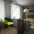 Part of the modern apartment — Stock Photo