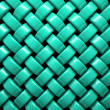 Abstract pattern of  turquoise weaving pieces — Stock Photo