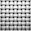 Abstract pattern of white weaving pieces illustration — Stock Photo