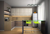 Part of the modern kitchen — Stock Photo