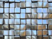 Abstract pattern of square metal pieces — Stock Photo