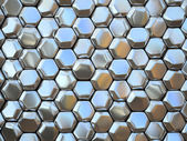 Abstract pattern of hexahedron metal pieces illustration — Stock Photo