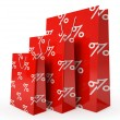 Sale paper bags isolated on white background illustration — Stock Photo