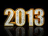 Modern 2013 year isolated on the black background illustration — Stock Photo
