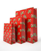 Christmas carrier paper bags isolated on white background illust — Zdjęcie stockowe