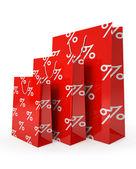 продажа бумажные мешки, изолированные на белом фоне иллюстрации — Стоковое фото