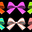 Colored gift bows isolated on background - Stock Photo