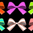 Colored gift bows isolated on background - Foto de Stock