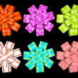 Colored gift bows isolated on background illustration - Stock Photo