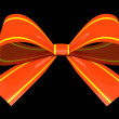 Red gift bow isolated on background illustration - Stock Photo