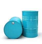 Blu metallici botti isolati sull'illustrazione di sfondo bianco — Foto Stock