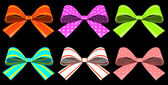 Colored gift bows isolated on background — Stock Photo