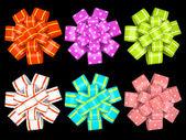 Gekleurde geschenk bogen geïsoleerd op achtergrond afbeelding — Stockfoto