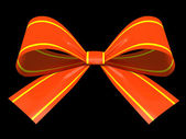 Red gift bow isolated on background illustration — Stock Photo