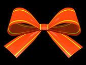 孤立在背景图上的红色礼品蝴蝶结 — 图库照片