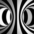 Black-and-white abstraction illustration — Stock Photo